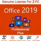 Microsoft Office 2019 Professional License Key NEW RELEASE Lifetime Key 2 windows Users