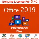 Microsoft Office 2019 Professional License Key NEW RELEASE Lifetime Key 5 windows Users