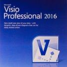 Microsoft Visio Professional 2016 Brand New Genuine - 1 PC Key permanant use