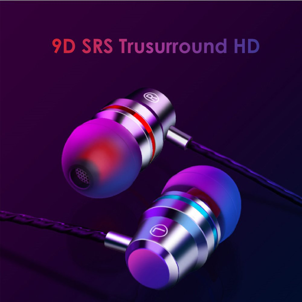 Earbuds Headphones with Microphone Heavy Bass High Definition Sweatproof Wired �black�