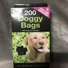200 Doggy Bags Scented Pet Pooper Scooper Bag Dog Cat Poo Waste Toilet Poop