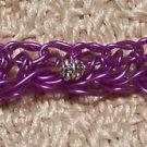 Grape Woven Wire Bracelet