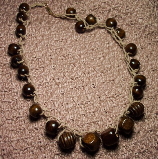 Wood and Hemp Woven necklace