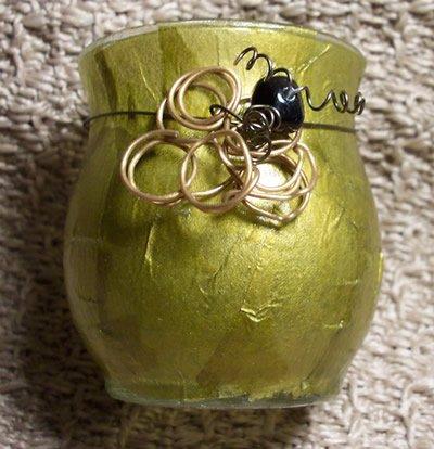 Golden Ring Candle Holder