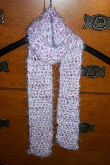 Lilac Crocheted Scarf