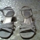 Girls-Size 1-Smart fit shoes -white dress shoes/sandals with rhinestones summer