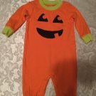 Girls Boys Size 3-6 mo.Child of Mine pumpkin outfit jumpsuit
