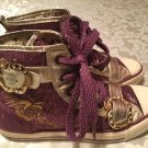Girls Size 6.5 Apple Bottoms shoes   Kishia purple&gold shoes hi-top