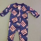 NFL Team Apparel Size 0/3 mo. NY Giants football pajamas blue&red long sleeves