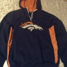 Size 14-16 NFL Denver Broncos football jersey hoody jacket blue long sleeve