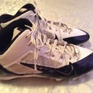 Nike Alpha Pro Flywire cleats Mens Size 9 football shoes sports white black
