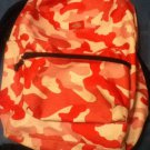 Dickies backpack shoulder  pink camouflage  12 x 6 1/4 x 19 inches.