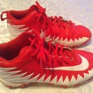 Boys Size 5.5 Nike football cleats Alpha Menace Shark sports shoes red white