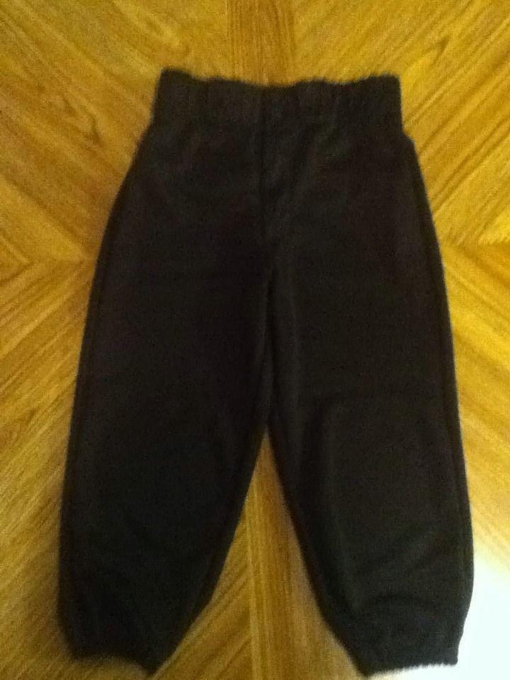 Rawlings baseball softball T-ball pants Youth XSmall Boys Girls black sports