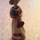 Vintage Patriotic Holiday doll USA figurine hand painted 10 inches