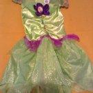 Tinkerbell Costume Disney Fairies dress Size XS 3T - 4T girls green