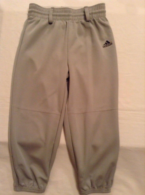 Adidas Youth XS XSmall baseball softball T-ball pants climalite gray sports