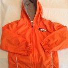 Size 4T NFL Team Apparel Denver Broncos windbreaker jacket hoodie orange