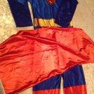 Rubies Superman costume Size medium jumpsuit cape Vintage blue