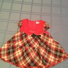 Valentines Day Roberta Colum dress Size 9 mo red plaid new girls