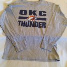 NBA OKC Oklahoma Thunder sweatshirt Size 10  12 long sleeve sweater gray sports