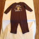 Size 6 9 mo Okie Dokie romper jumpsuit new sheriff in town brown 1 piece outfit