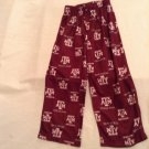 Size XS 4 to 5  NCAA Texas A&M Aggies pajamas pants bottomsTeam Athletics New