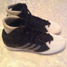 Adidas Filthyquick football cleats Size 10 shoes black white mens
