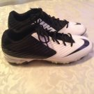 Nike Vapor Shark Strike cleats Mens Size 11 white black football athletic shoes