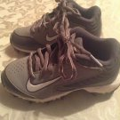 Nike Huarche shoes Size 2Y baseball cleats gray athletic sports boys