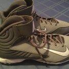 Nike baseball cleats Size 8.5 Huarache gray white shoes athletic sports mens