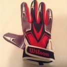 Wilson batting glove Youth Size large single right hand red white