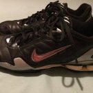 Nike shoes Size 8 baseball shox softball athletic cleats black silver Mens
