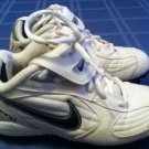 Nike shoes Size 1.5 youth softball baseball cleats white sports Boys Girls