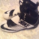 Nike Strike Pro cleats Size 12 football black white athletic sports shoes Mens