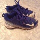 Nike shoes Size 11C Vapor baseball softball T ball cleats blue white Girls Boys