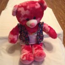 4th of July Build A Bear girl pink camouflage bear sequin outfit 18 inch