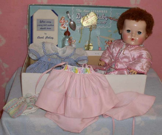 Effanbee 1940s Dy-Dee Baby Doll - Mint in Box w/Layette and Hang Tag -- RED HEAD