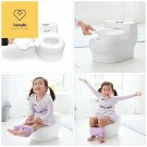 Skip Hop Potty Training Toilet with Easy Clean Coating & Baby Wipes Holder, Whit
