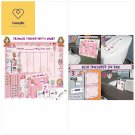 Potty Training Chart for Toddlers – Princess Design - Sticker Chart, 4 Week Re