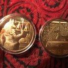 Anubis 24kt Clad Lucky Coin
