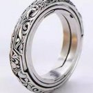 Silver Astrological Ring, Size 8