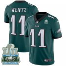 Eagles #11 Carson Wentz Green Champions Men's Stitched Limited Jersey