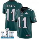 Eagles #11 Carson Wentz Green SuperBowl Men's Limited Jersey