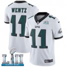 Eagles #11 Carson Wentz White SuperBowl Men's Limited Jersey