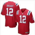 New Patriots #12 Tom Brady Red Game Stitched Jersey