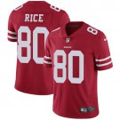 49ers #80 Jerry Rice Red Men's Stitched Limited Jersey