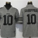49ers 10 Jimmy Garoppolo Gray Limited Jersey