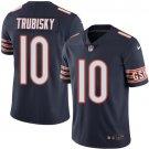 Bears #10 Mitchell Trubisky Navy Blue Men's Stitched Limited Jersey
