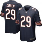 Bears #29 Tarik Cohen Navy Blue Men's Stitched Game Stitched Jersey